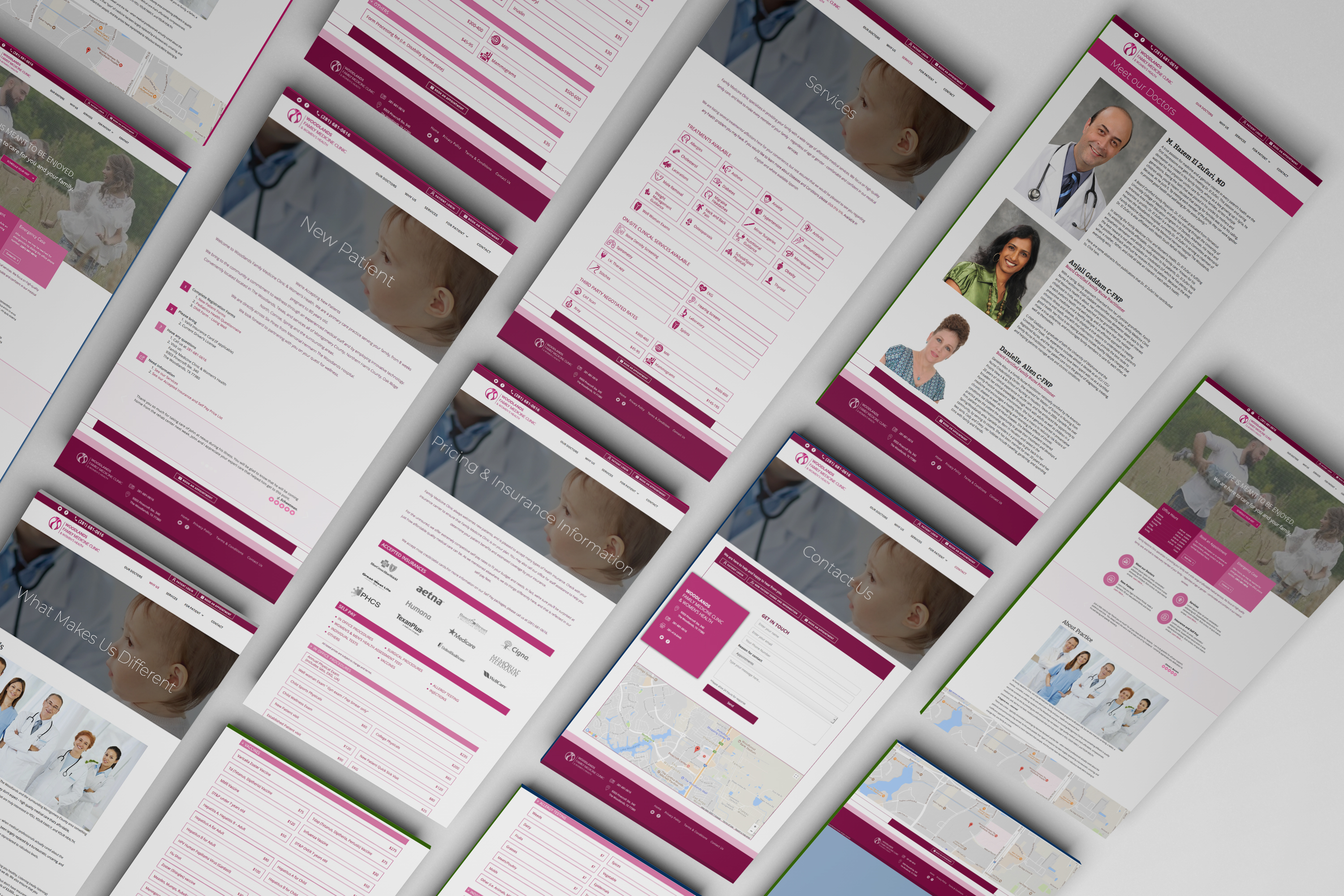 Family Medicine Clinic responsive website home page design
