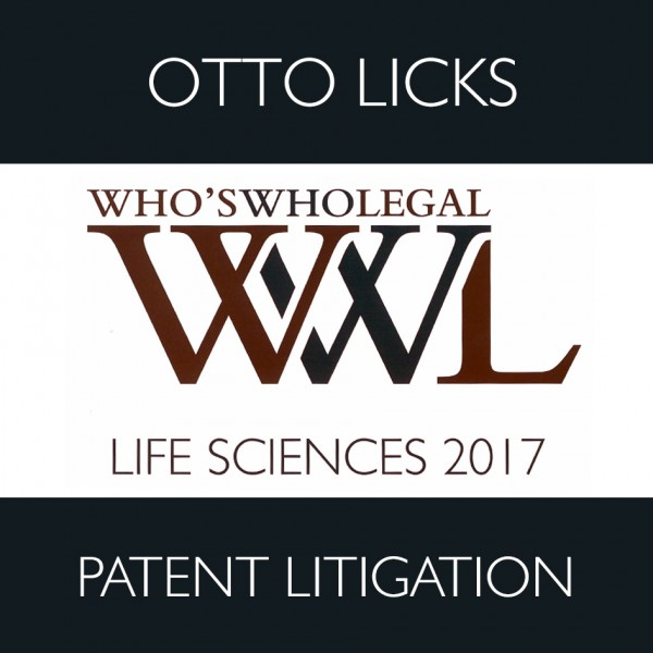 Who´s Who Legal Life Sciences – Patent Litigation