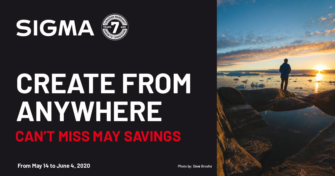 Sigma Create From Anywhere - Can't Miss May Savings from May 14 to June 4, 2020