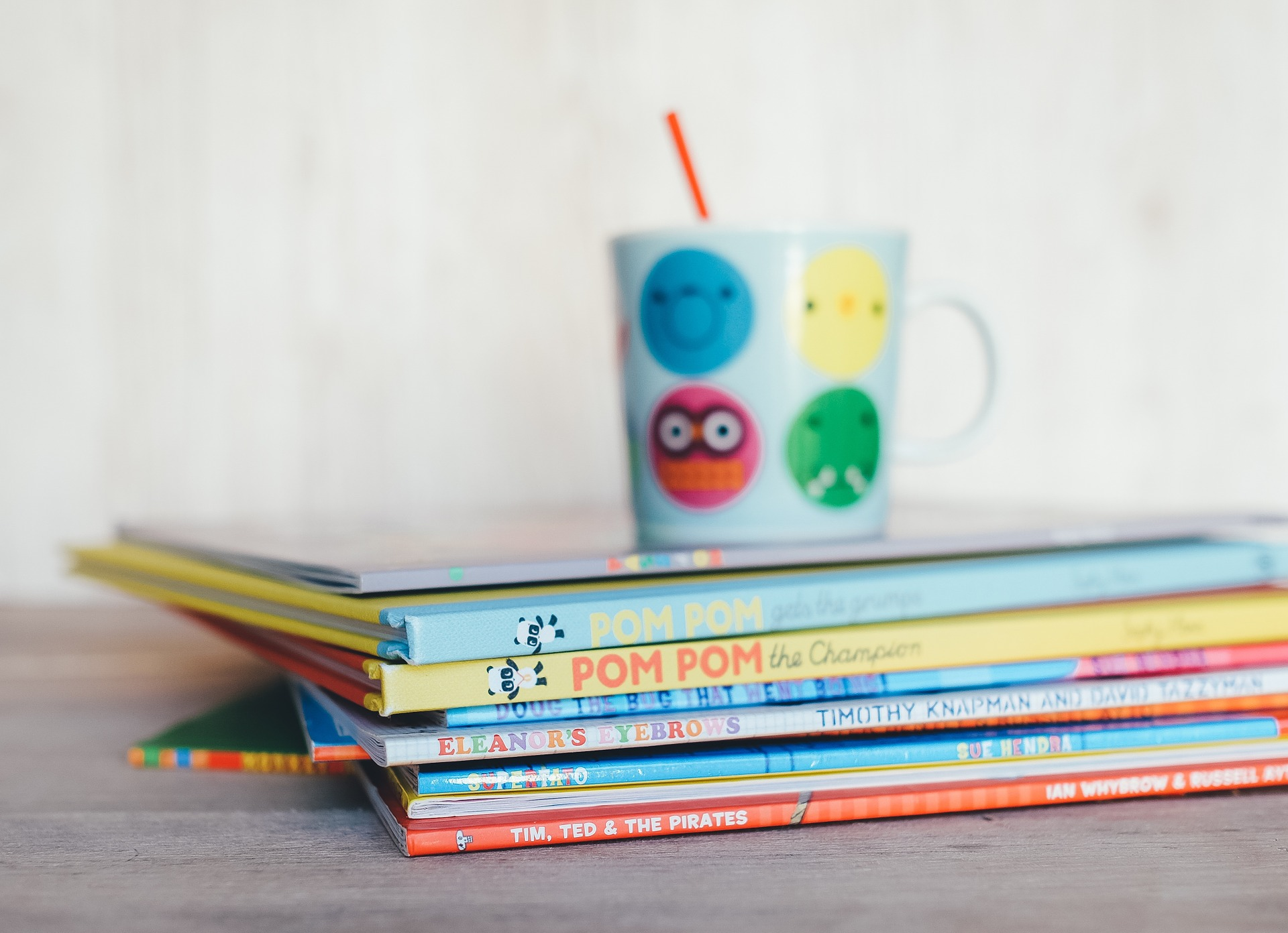 Stack of books designed to help teach children with reading difficulties