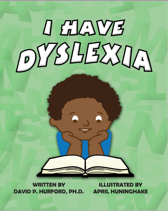 A young multicultural reading a book called I Have Dyslexia