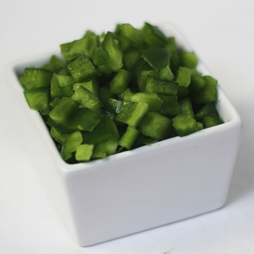 Diced Bell pepper topping