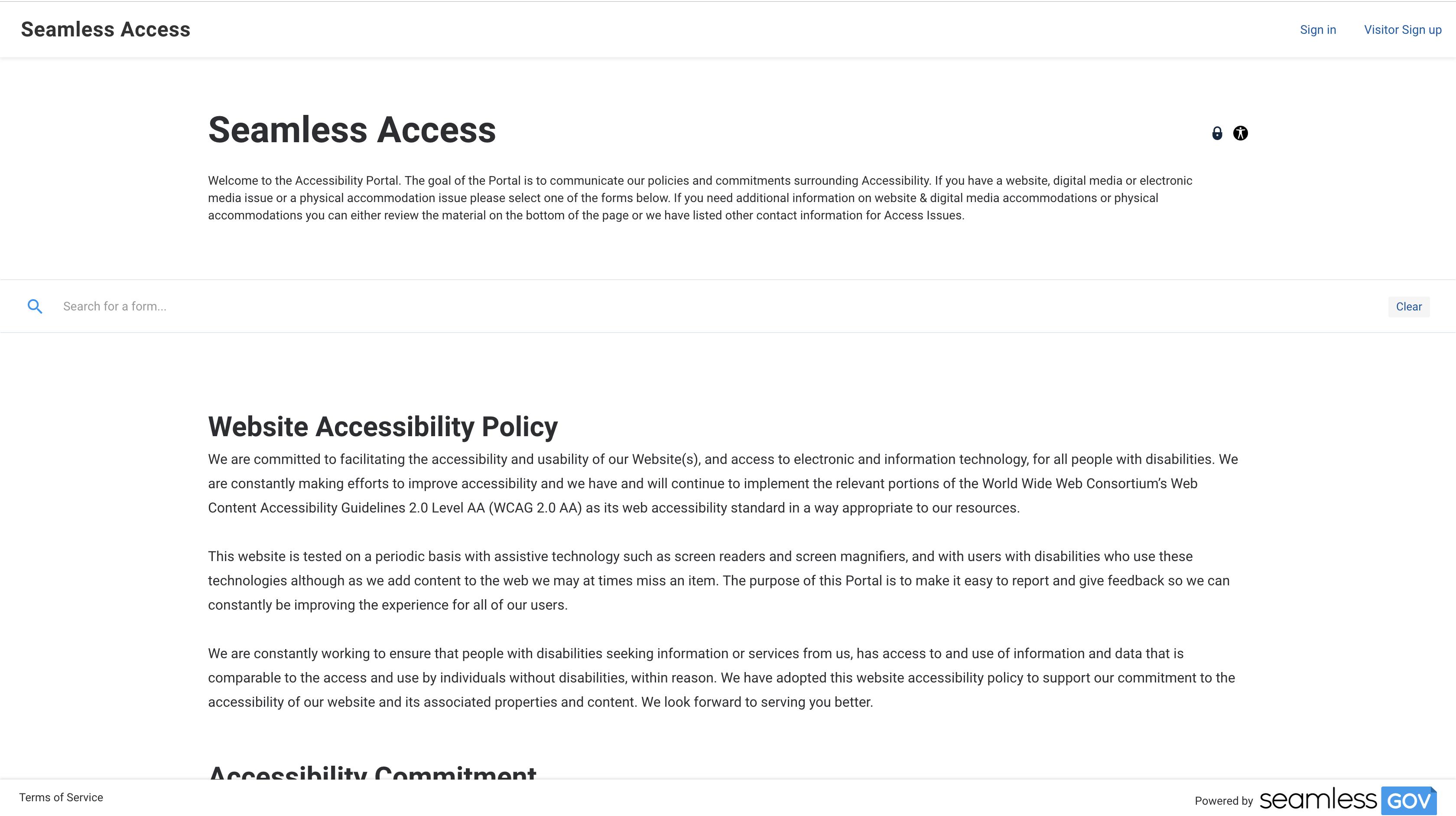Accessibility Portal