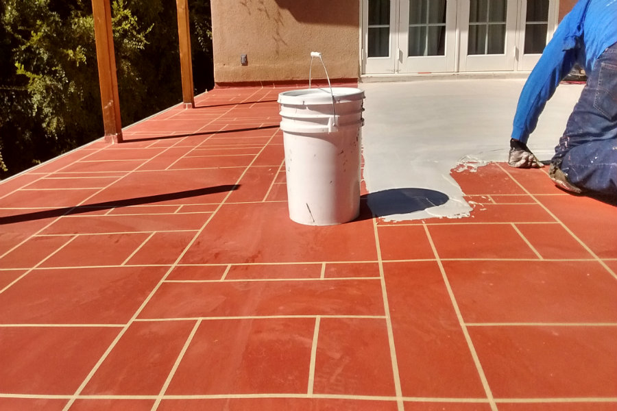wcdeck waterproofing outdoor flooring in action