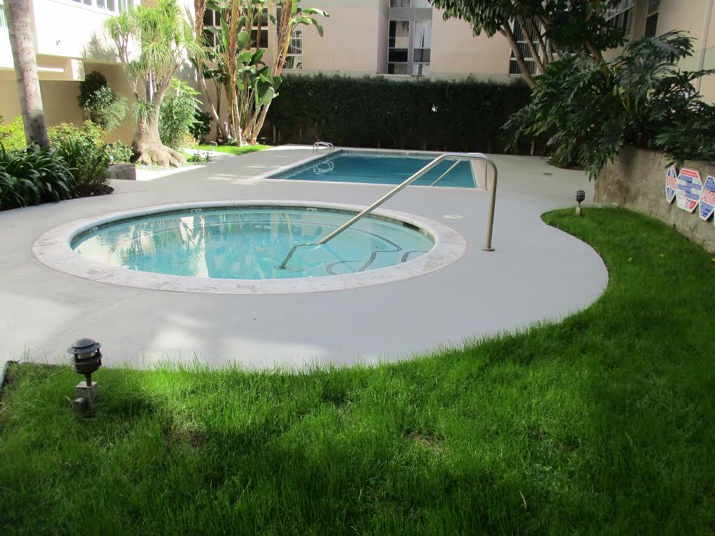 Waterproofing pool deck