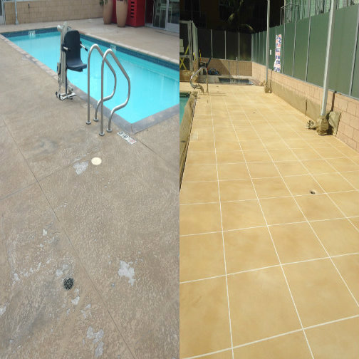 before and after pool resurfacing
