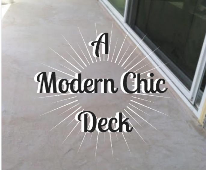 modern chic deck