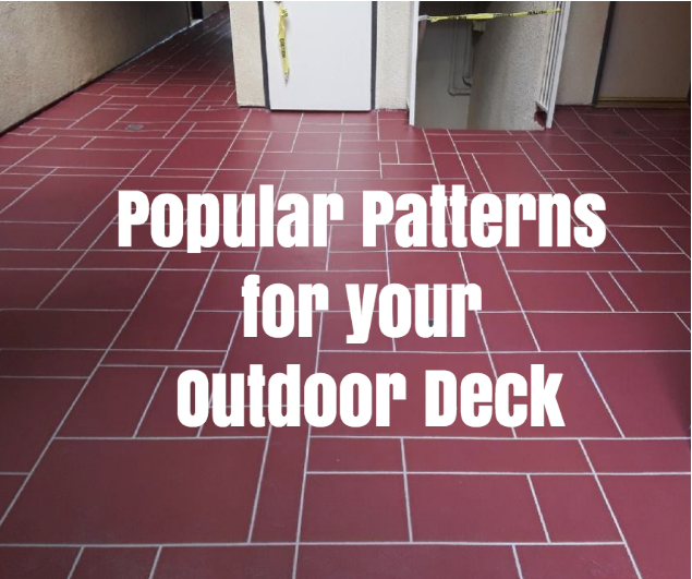Popular Patterns for An Outdoor Deck