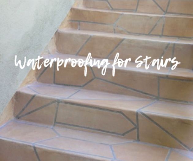 waterproofing exterior stairs