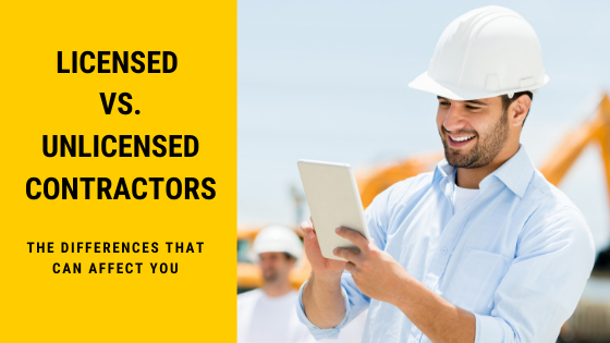 licensed vs unlicensed contractor