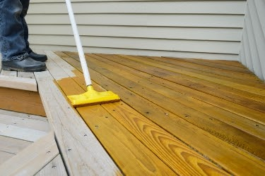 Protect the deck with a high-quality waterproofing treatment