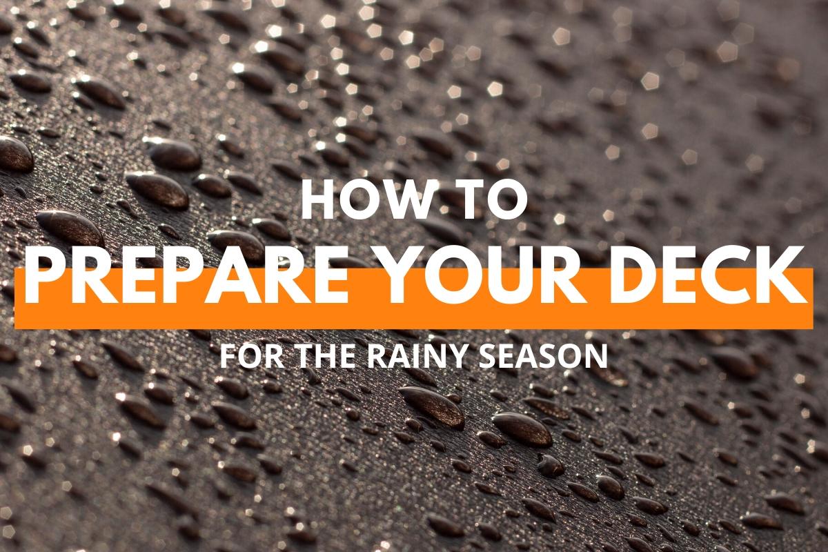 Floor image with rain drops