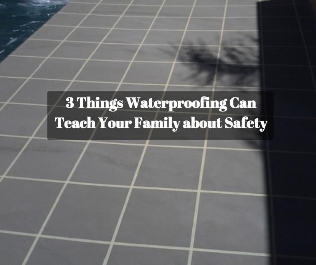 waterproofing pool tile