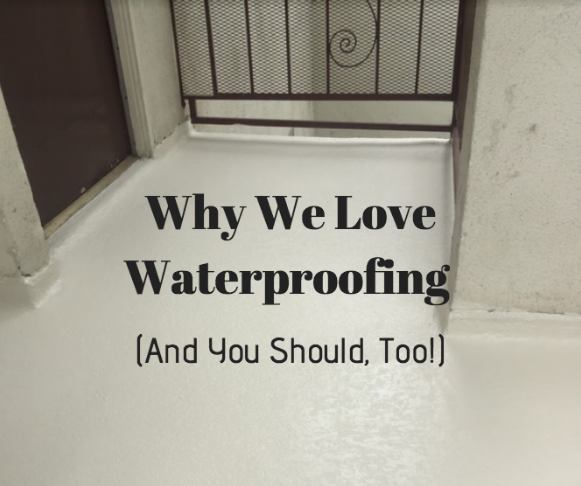 why waterproof a deck or living space