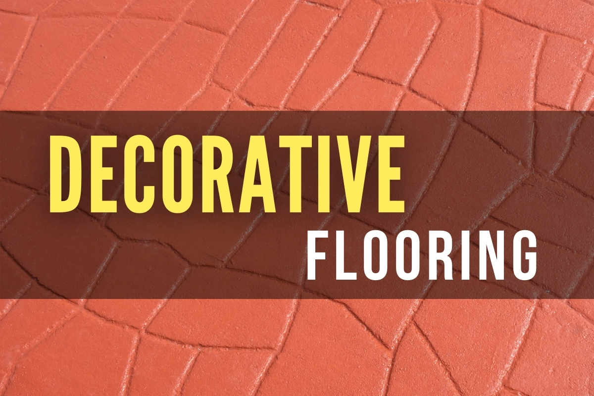 Red Concrete Stamped Floor - Decorative Flooring