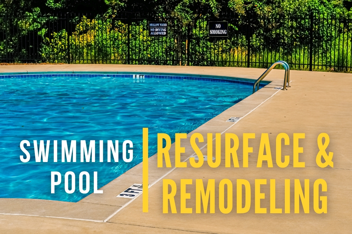 Residential Pool Area - Swimming Pool Resurface & Remodeling