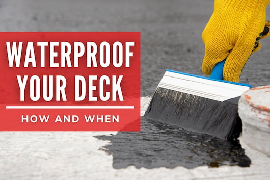 Waterproof Your Deck - How and When - Hand painting waterproof paint in concrete
