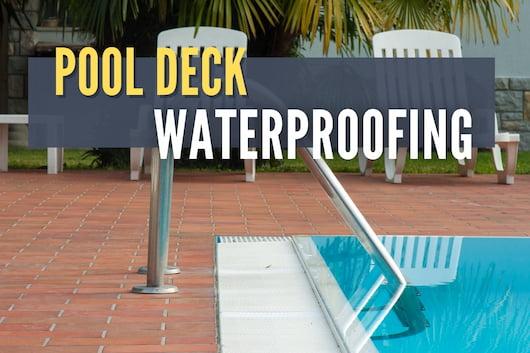 Pool Deck Waterproofing - House Pool