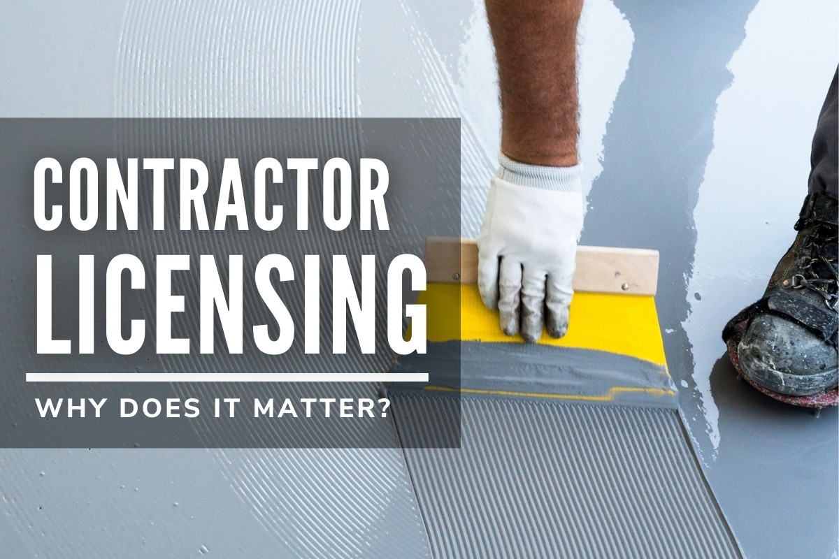Contractor Licensing Why Does It Matter? - Man working on flooring