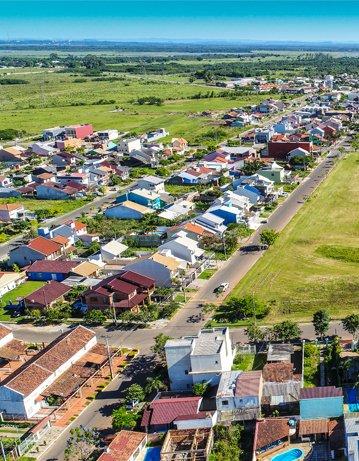 Imagem aérea de Eldorado do Sul