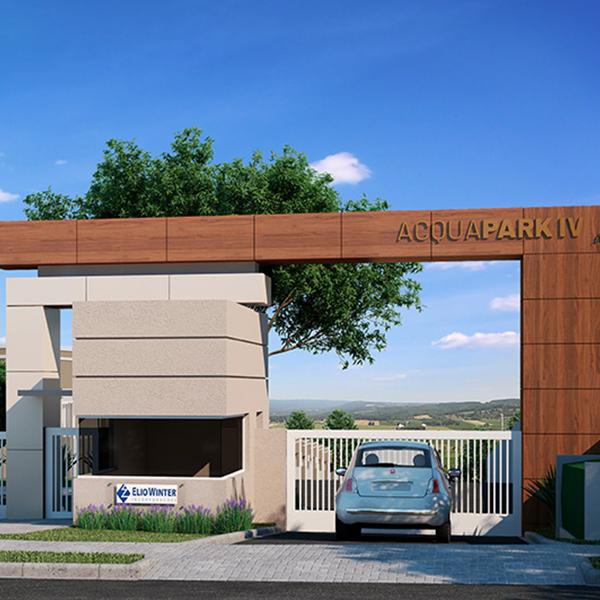 Fachada do Residencial Acqua Park em Araucária