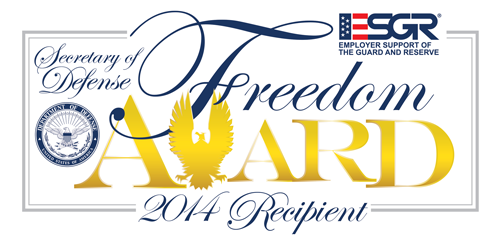 ESGR Freedom Award 2014 Recipient
