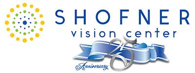 Shofner Vision Center logo celebrating 25 year Anniversary