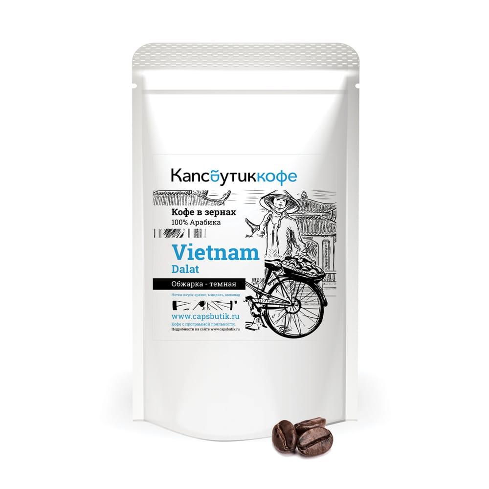 Vietnam Dalat кофе в зернах 450 г упаковка