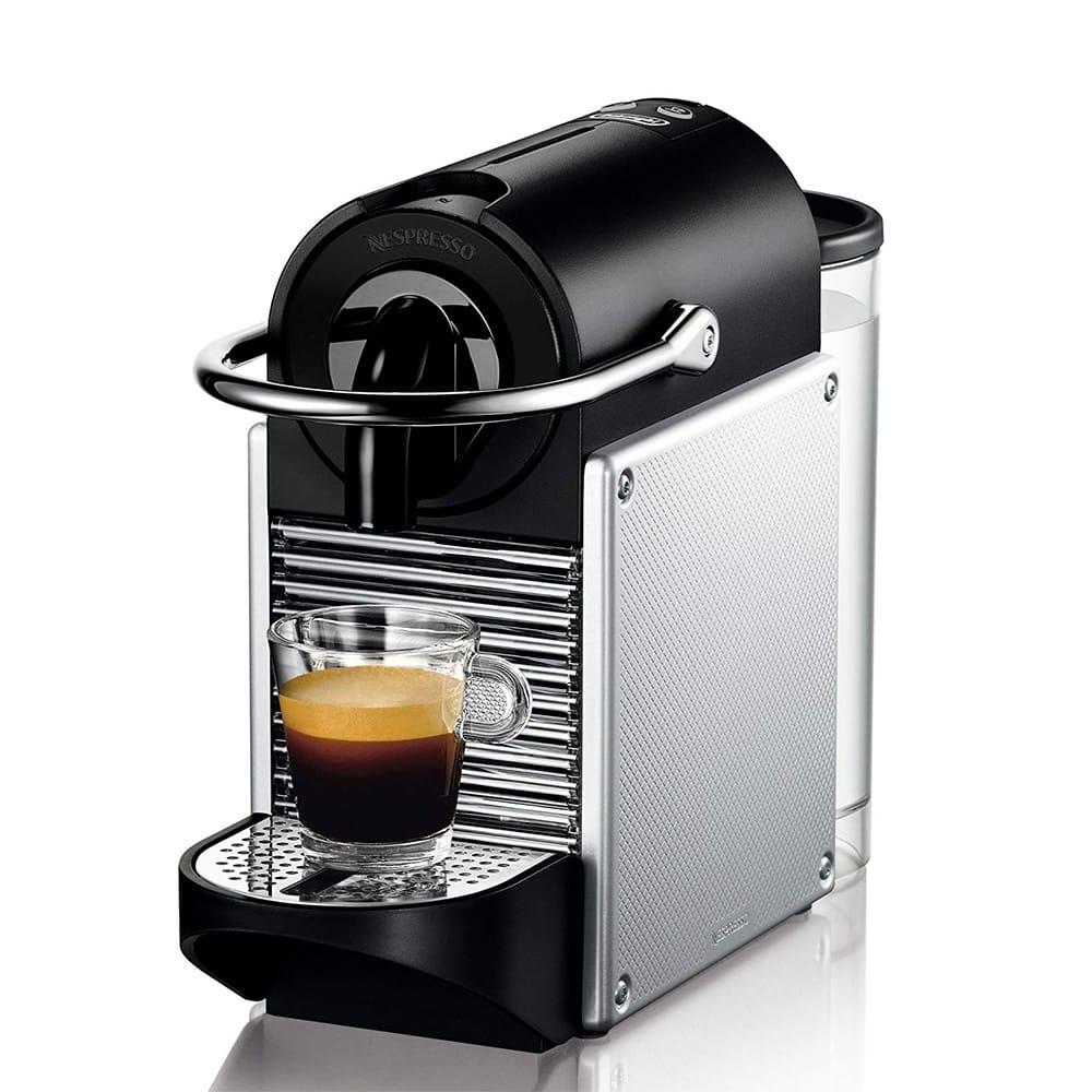 Фотография капсульной кофемашина De'Longhi Nespresso Pixie Electric Aluminium EN 125 S спереди