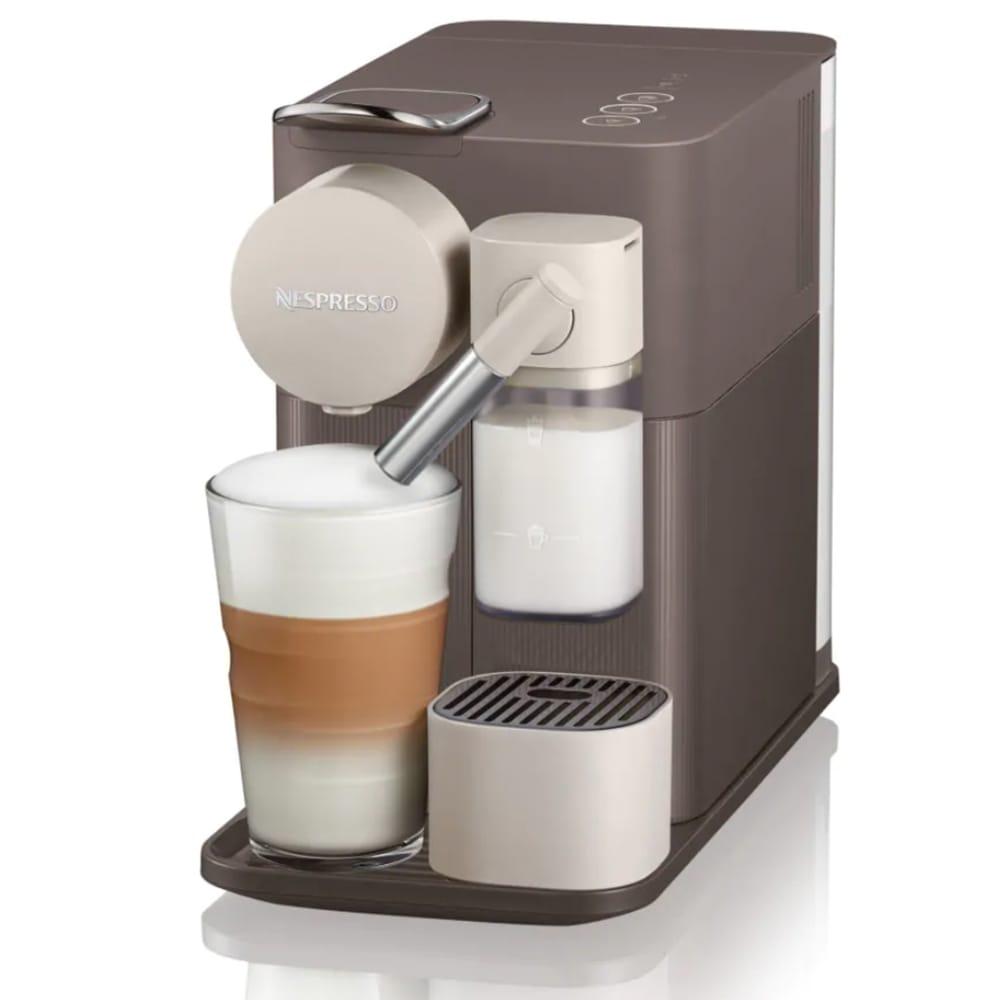 Капсульная кофемашина Delonghi Lattissima One EN 500 BW цвет коричневый