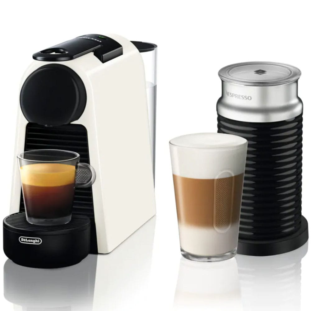 Капсульная кофемашина Delonghi Nespresso Essenza Mini EN85.WAE в комплекте капучинатор Aeroccino 3