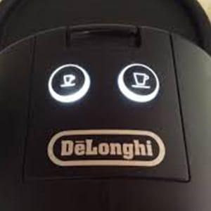 Два режима приготовления кофе (эспрессо и лунго) на кофемашине Delonghi EN 125 R