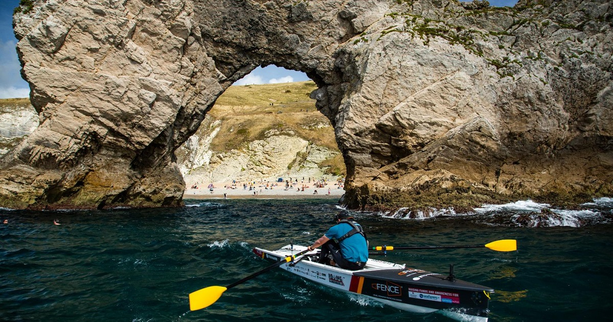 The Jurassic Coast provides the perfect rowing playground