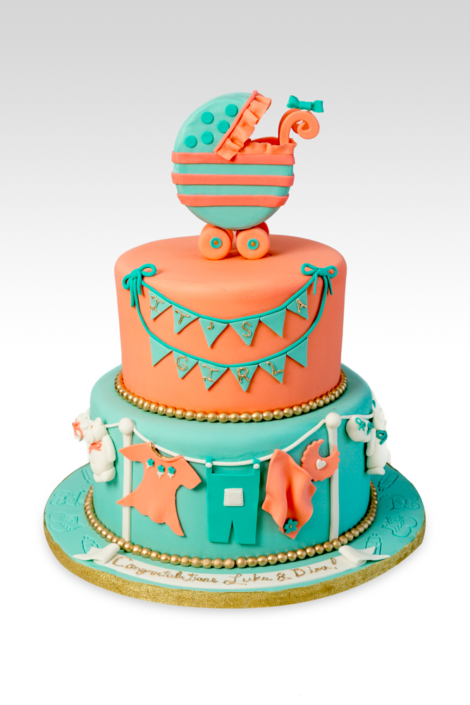 2 Tier Baby Shower Cake