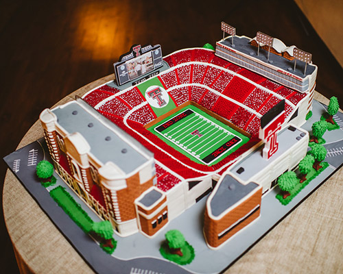Texas Tech Stadium Groom's Cake