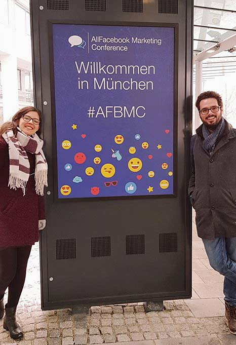 Christian und Miriam für ideenhunger auf der AllFacebook Marketing Konferenz in München