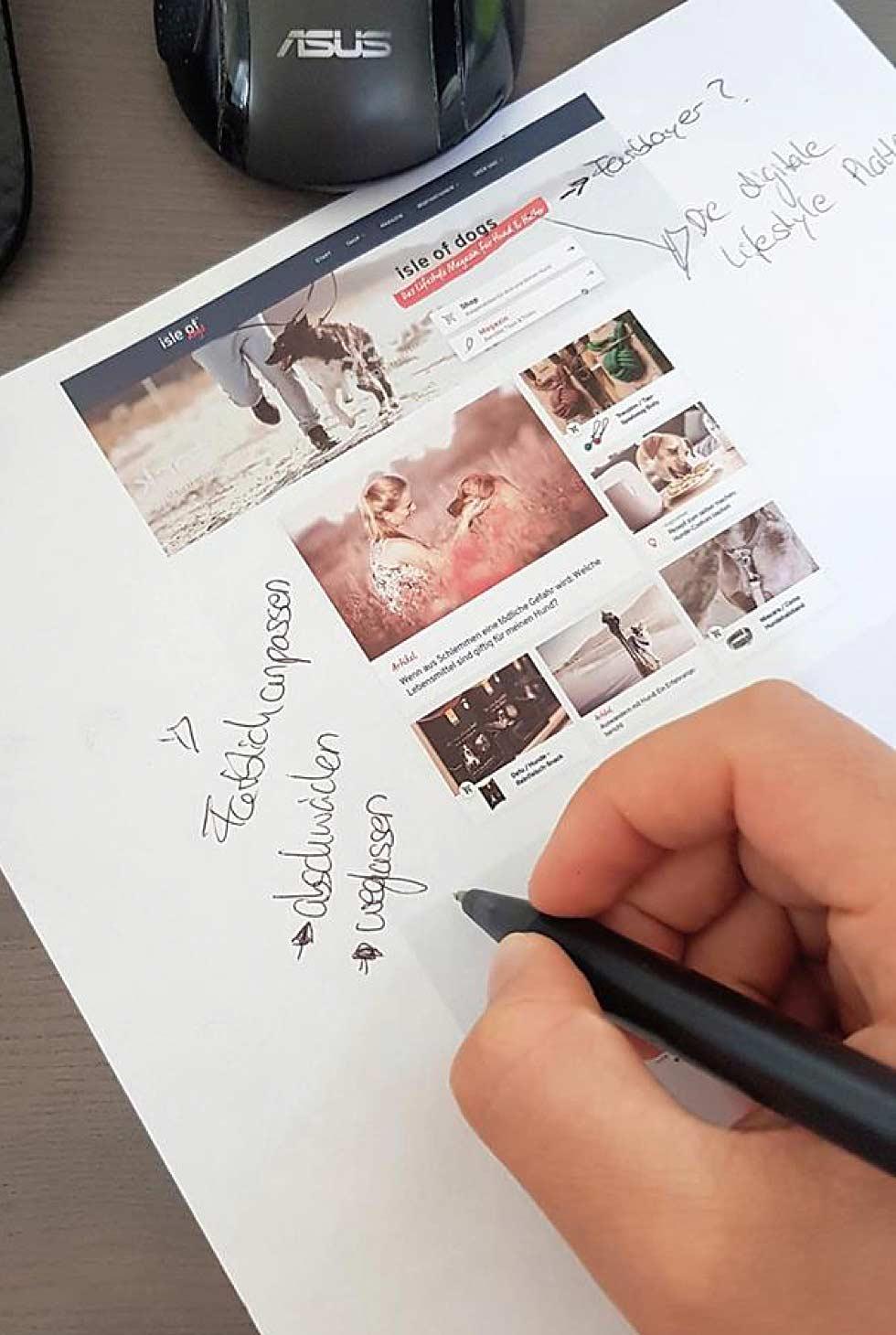 Wir arbeiten gerade auf Hochtouren an dem Redesign unseres Herzensprojekt isle-of-dogs
