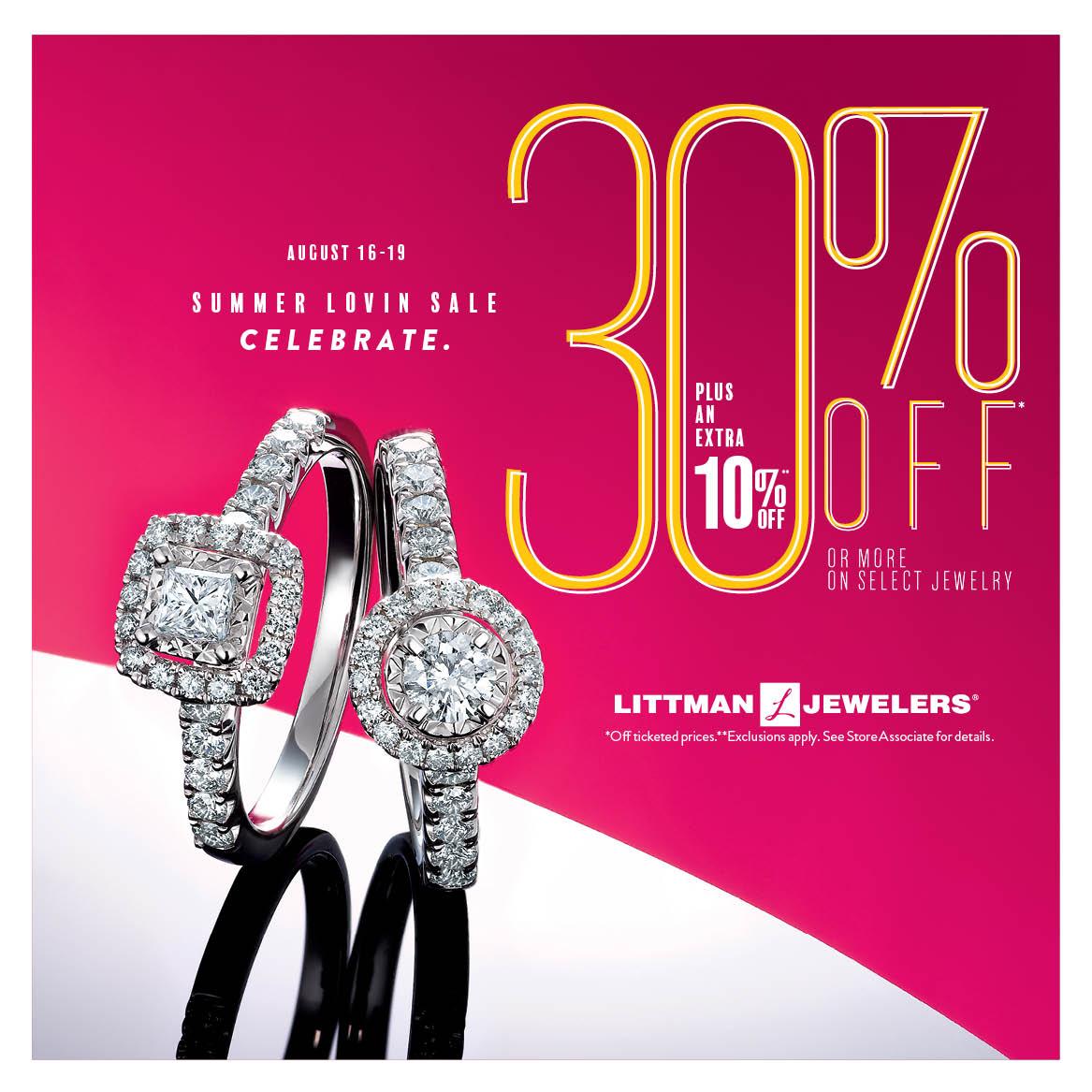littman jewelers 30% off sale