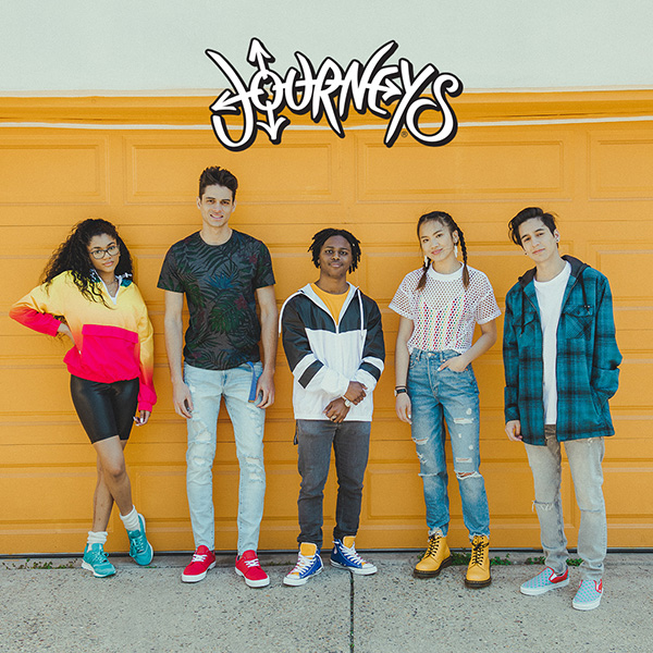 Photo of casually dressed teens with new shoes