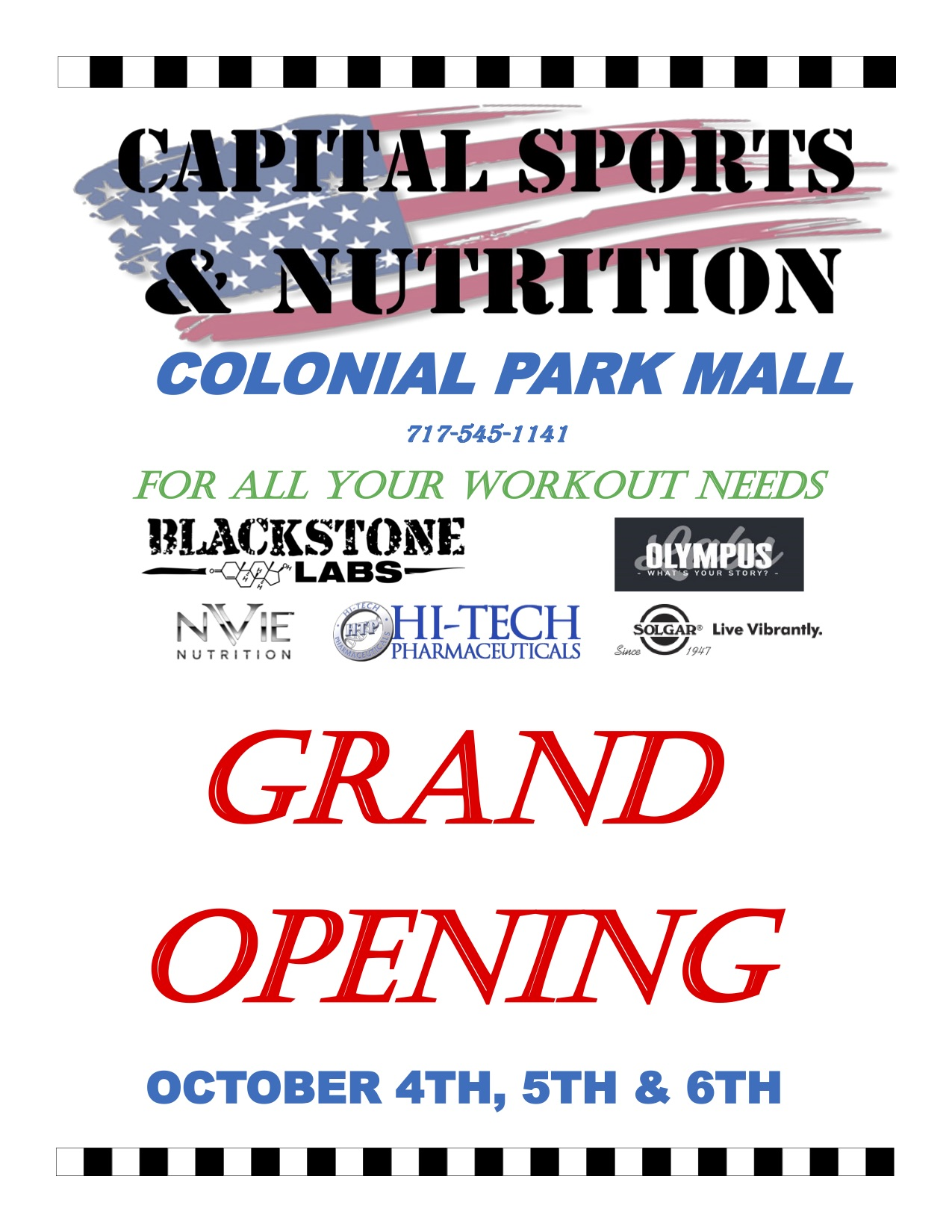 Grand Opening information