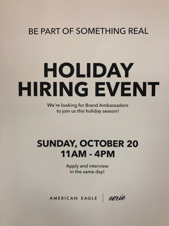 aeo hiring event