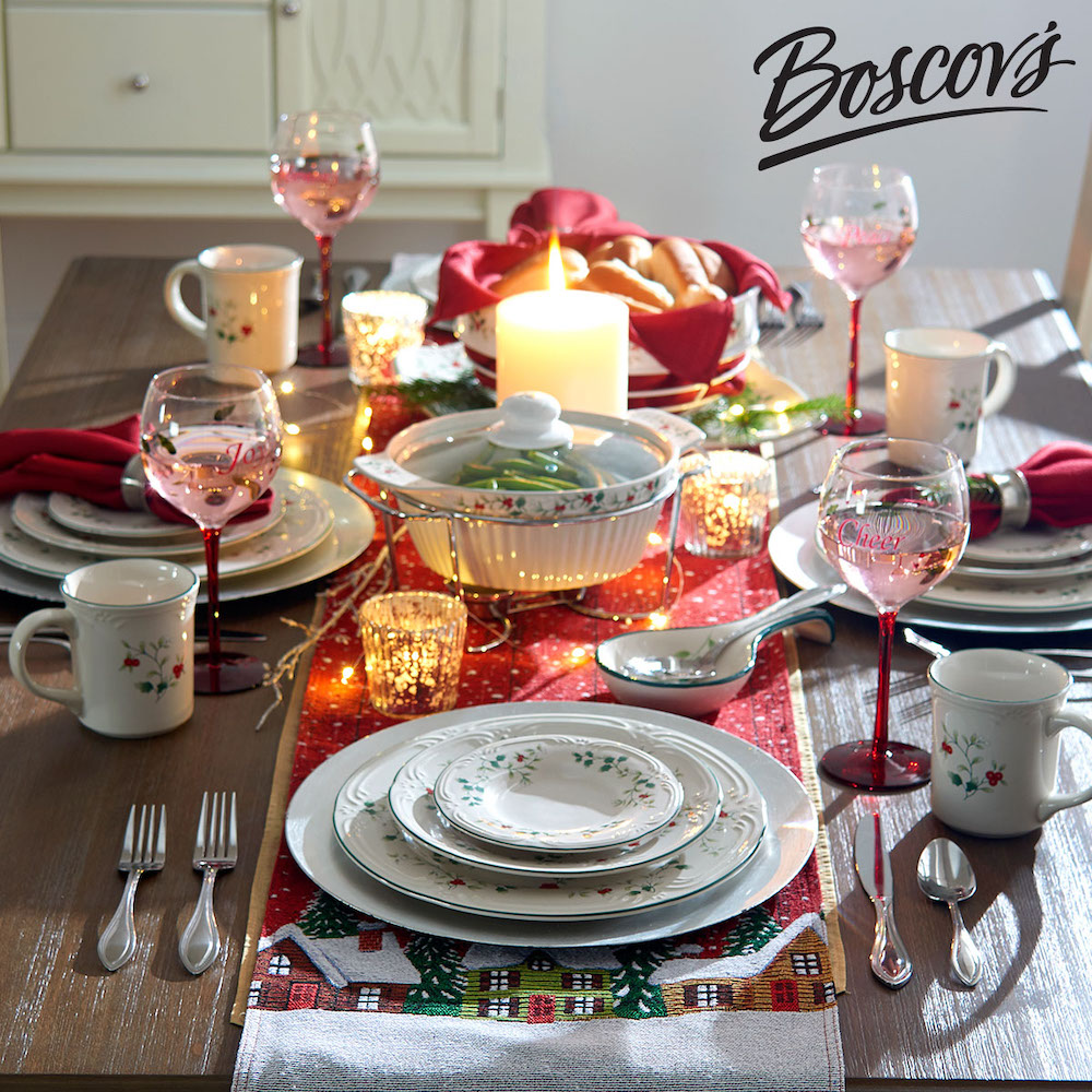 Photo of a winter table setting
