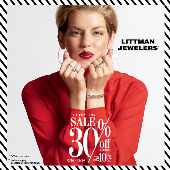 30% off or more at Littman Jewelers