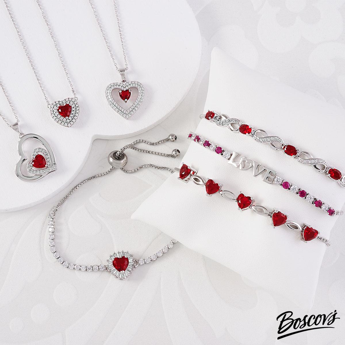 Boscovs ruby and diamond valentine's jewelry