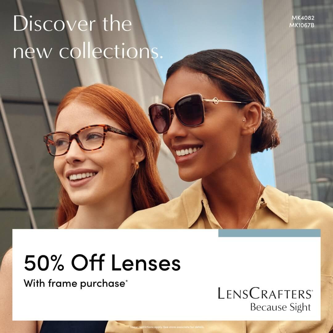 Woman wearing glasses and woman wearing sunglasses