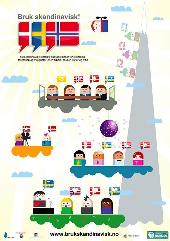 Bruk skandinavisk! (Brosjyre/plakat i klassesett)