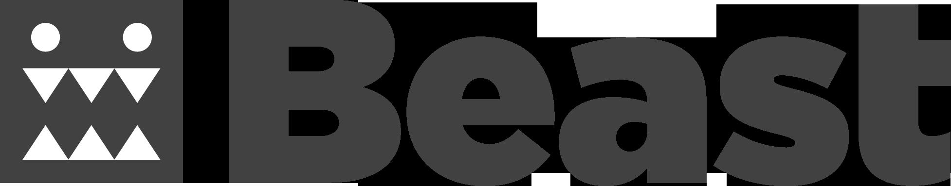 Beast Black Logo Horizontal Blog Post