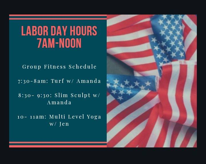 Labor Day Hours and Classes