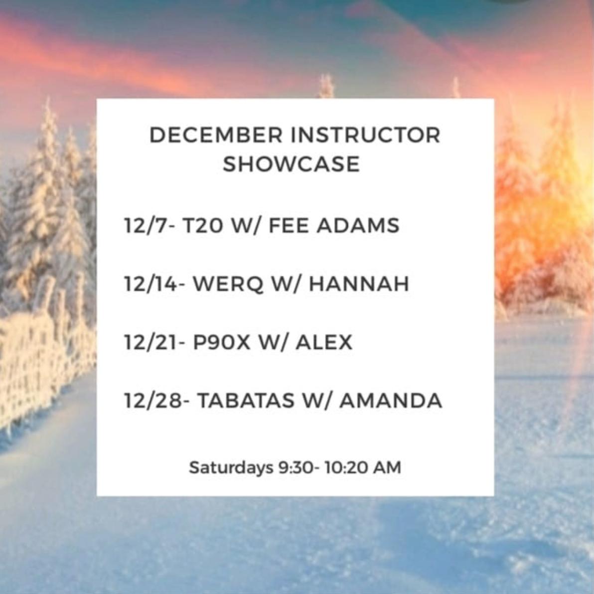 Instructor Showcase for December