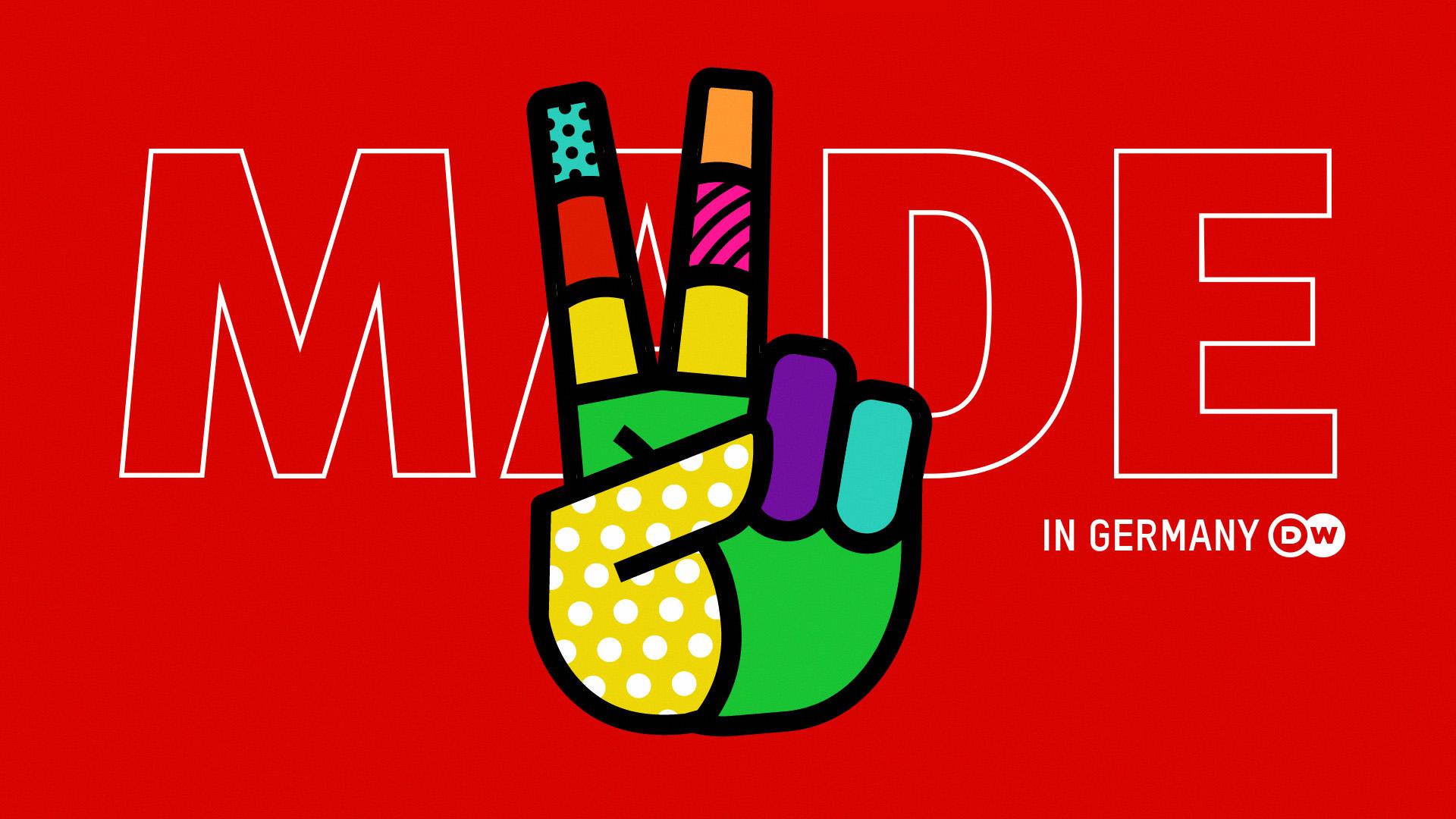 DW MADE Header logo peace hand sign